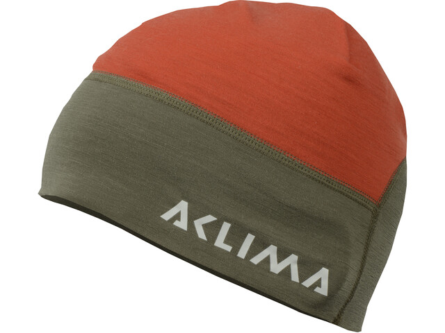 Aclima LightWool Hunting Beanie Pipo, high risk red/ranger green